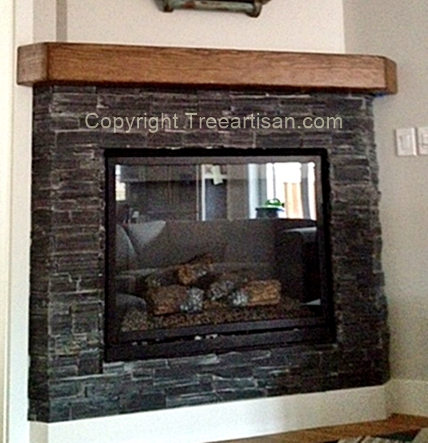 Rustic Or Modern Oak Beam Fireplace Mantel Floating Shelf