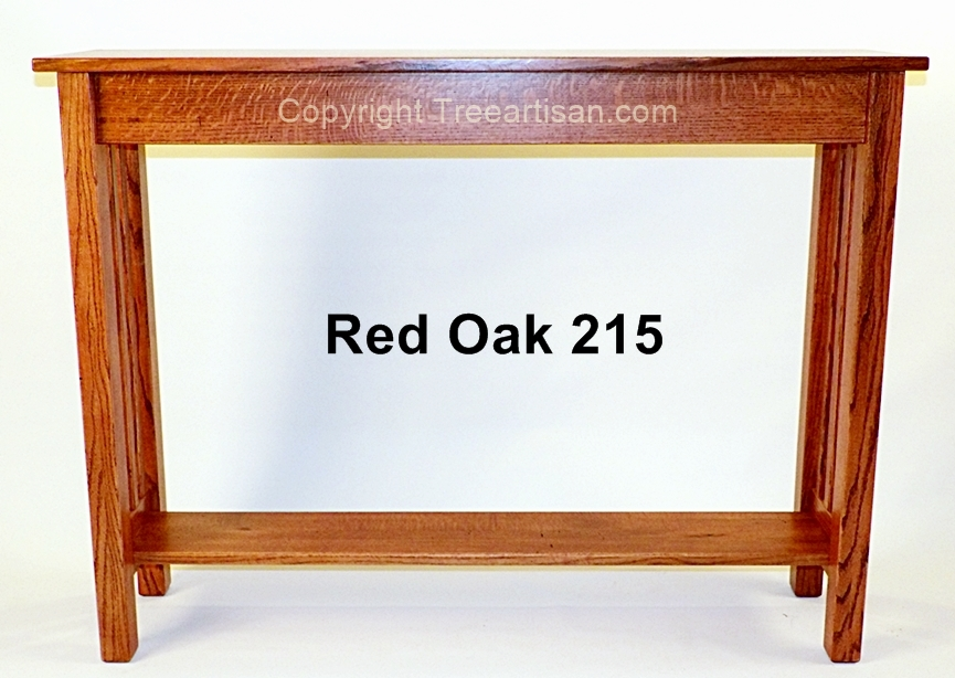 Custom Quarter Sawn Oak Craftsman Mission Console Hall Sofa Table
